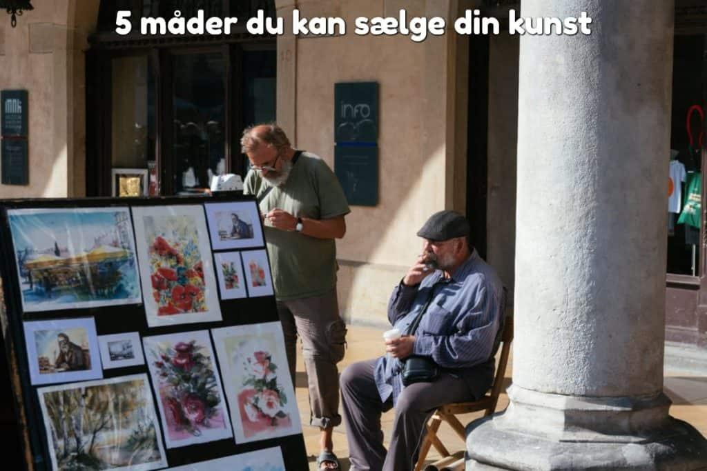 5 måder du kan sælge din kunst